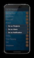 Screenshot of Ringtones for smart phone