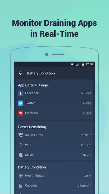 Battery Doctor-Battery Life Saver & Battery Cooler screenshot 1