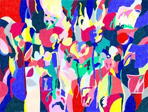 """Photo: Тадеуш Жаховский """"Река Цвета. River Of Color"""" Title: River Of Color / Река Цвета Artist:Tadeush Zhakhovskyy / Тадеуш Жаховский Medium: Painting. mixed techique on cardboard, смешанная техника, дизайнерский картон. 46 cm x 61 cm x / 18 in x 24 in.  О наличии картины просьба контактировать галерею.Также предлагается напечатанная на холсте репродукция этой картины в любом размере."""