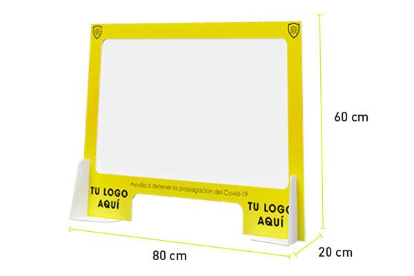 panel separador de protección en sintra 5mm mas mica transparente