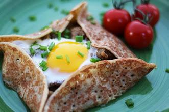 Photo: Baked egg crepe