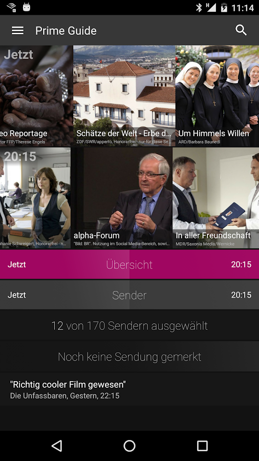 Prime Guide TV Programm- screenshot