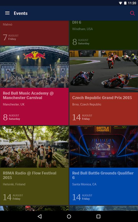 RedBull.com- screenshot