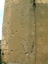 Photo: Mostar - a war-damaged building