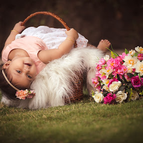 Ditya by Shashi Patel - Babies & Children Babies ( shashiclicks, girl, shashipatel, cute, flower )