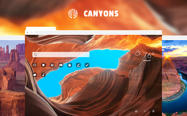 Canyons HD Wallpaper New Tab Theme