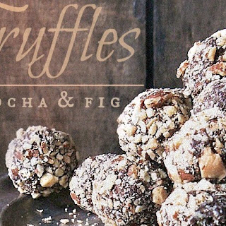 Mocha Fig Truffles with a Smoked Almond Coat