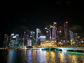 Photo: Marina Bay, Esplanade Bridge and CBD