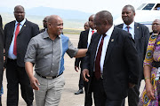 Eastern Cape premier Phumulo Masualle and president Cyril Ramaphosa on Sunday December 16 2018 in Mthatha, Eastern Cape for a Reconciliation Day event.