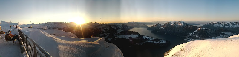 Photo: Sunset and Sunrise on the Fronalpstock, Stoos, Schwyz, Zentralschweiz, Switzerland