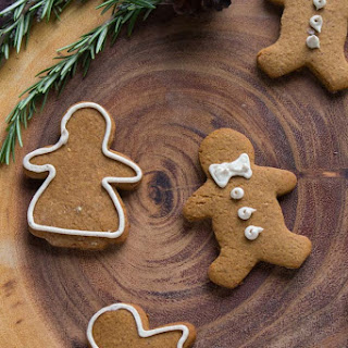 Classic Gingerbread People with Chai Icing.