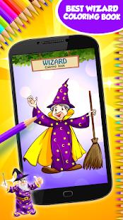 Kouzelník omalovánky - náhled