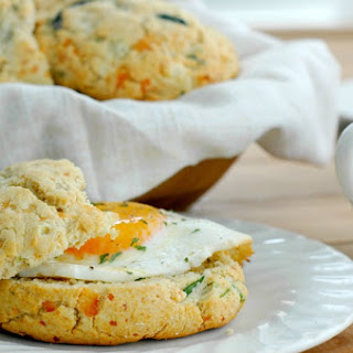 Gluten Free Savory Spinach and Cheese Breakfast Biscuits