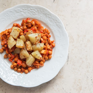 CUMIN INFUSED POTATOES & SPICY CHICKPEAS