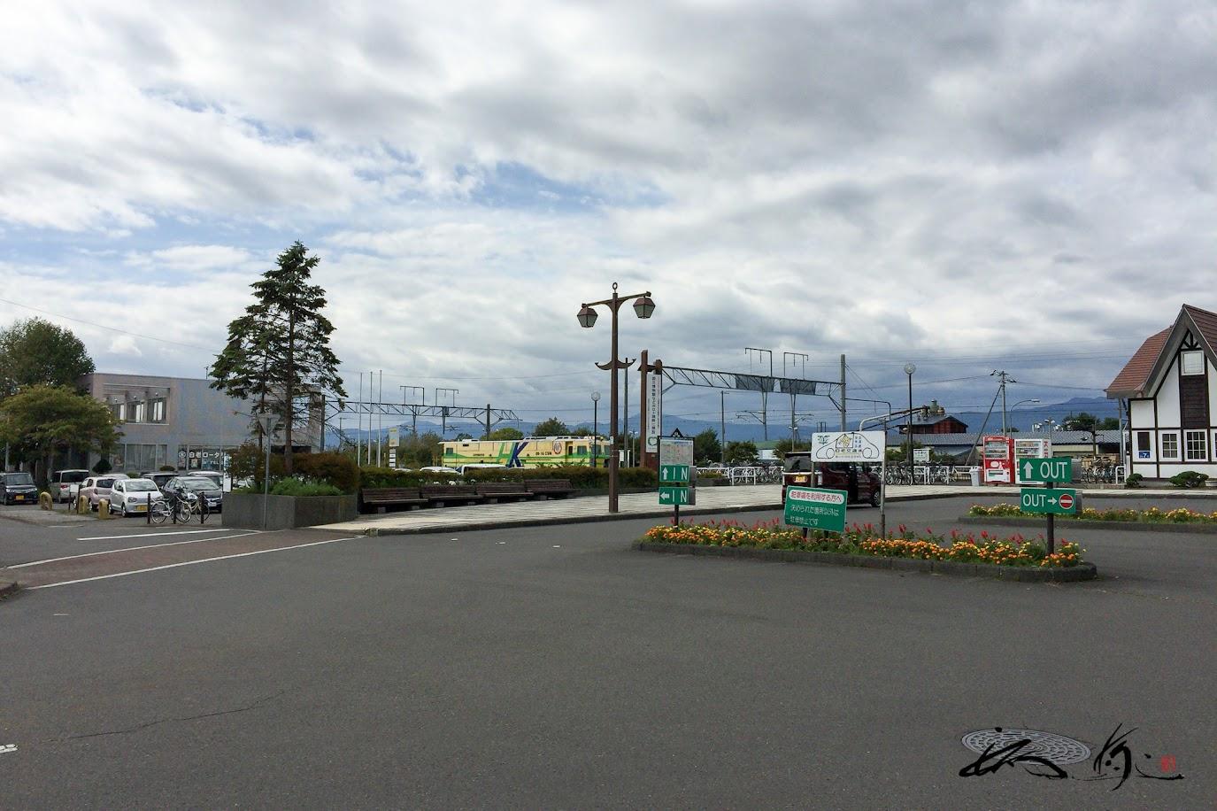 白老駅の風景