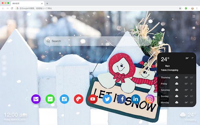 Winter Popular Photography HD New Tabs Theme