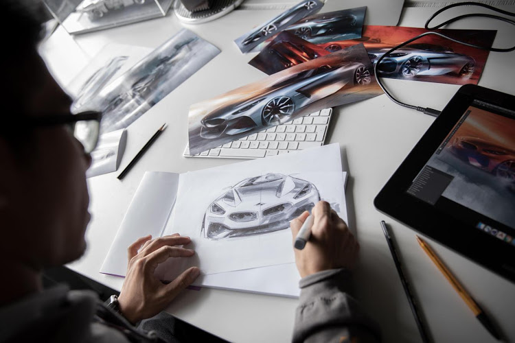 Designer Calvin Luk sketches ideas for the BMW Z4.
