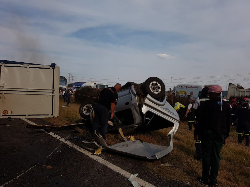 Nine killed in multi-vehicle accident in Gauteng