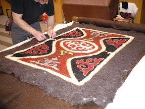 Photo: Helga szőnyege az első hengerlés után