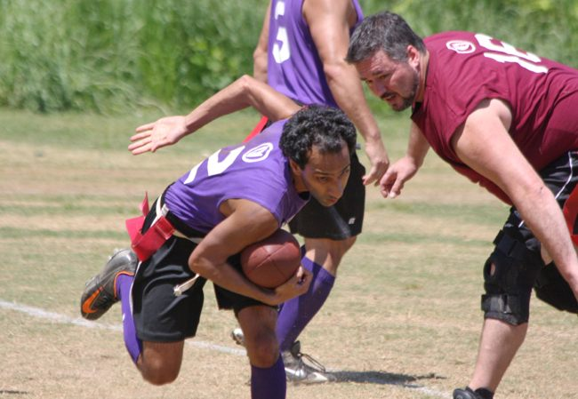 Photo: The National Flag Football League of Atlanta continued its spring season on April 28 with a round of games at Candler Park. View the full photo album: http://tinyurl.com/77t9lys