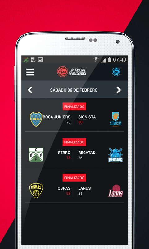Liga Nacional de Basquetbol- screenshot