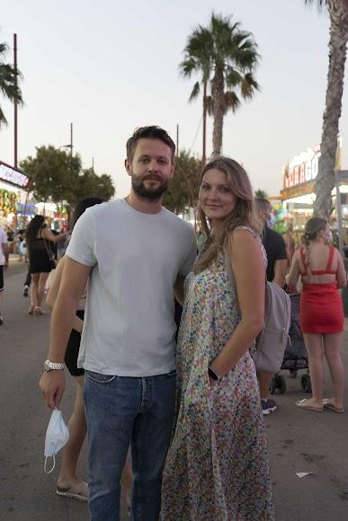 Laura Saraite y su novio