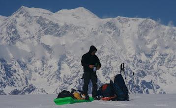 Photo: Seward Glacier. Mount Logan in the background. (more than 20 km away)