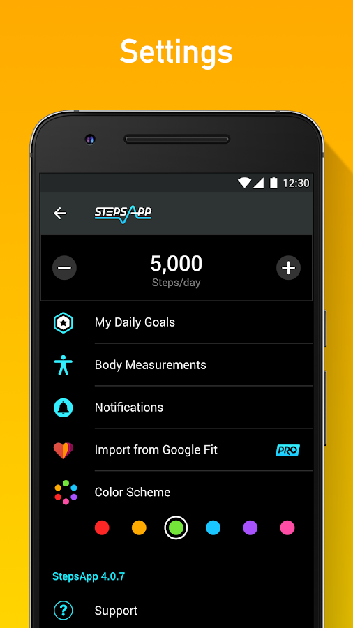 StepsApp Pedometer- screenshot