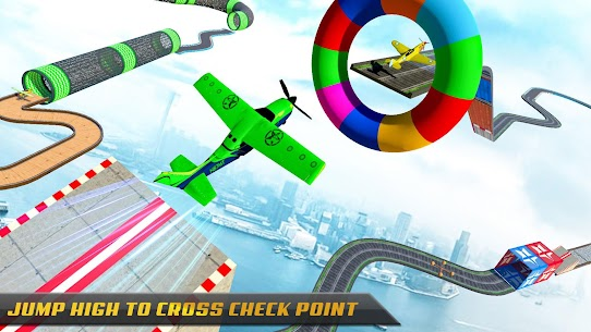 Airplane Stunts 3D: Extreme City GT Racing Plane 8