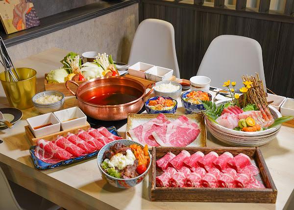 超值雙人海陸鍋物套餐!A5和牛、1855無骨牛、溫體豬和高檔生魚片通通有-錦悅町涮涮鍋
