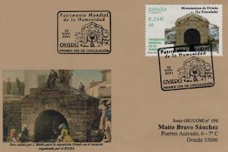 Photo: Matasellos Primer Dia del sello de la Foncalada