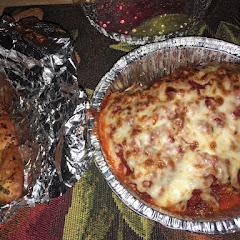 Takeout lasagna. Huge!
