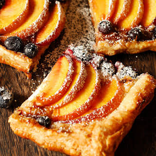 Peach and Blueberry Cream Cheese Pastry.