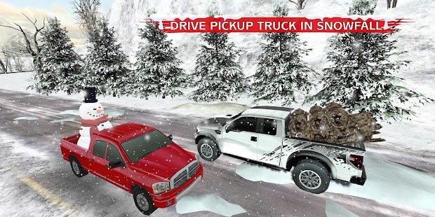 Winter Snow Pickup Truck: Gigantic Cold Glacier 3D - náhled