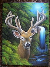 Photo: Waterfall Buck. 18 x 24 oil on canvas. $399.00