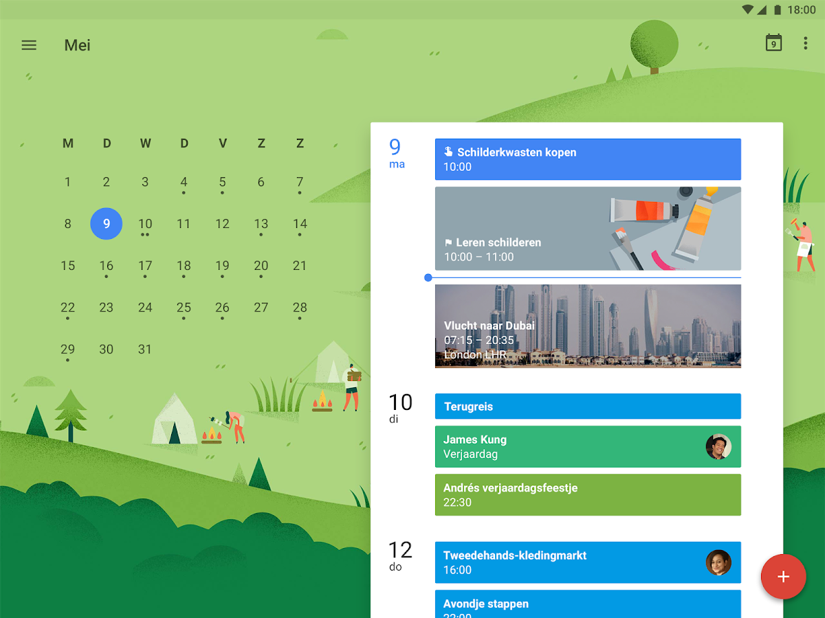 Google Agenda: screenshot