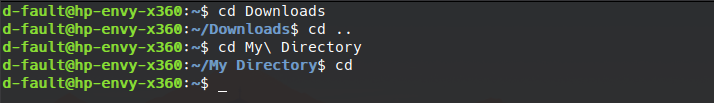 cd command preview