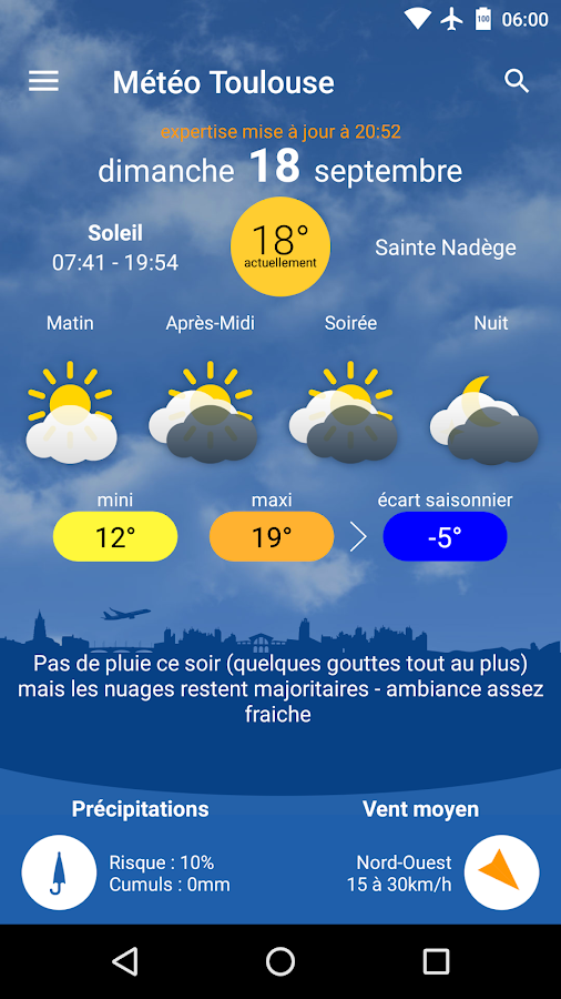 Météo Toulouse- screenshot
