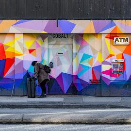 Getting organized by Steve Kazemir - People Street & Candids ( atm, street, hotel, colours, street photography )