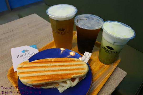 吻鑽咖啡Coffee KissiNess:東門城旁的小清新咖啡館/帕尼尼輕食/三明治/早午餐【台南東區】
