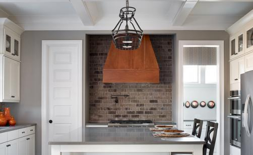 Brick kitchen back splash
