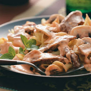 Beef Stroganoff (Tomato Paste, Beef Broth and Sherry)