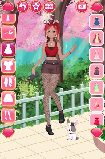 Anime Girls Fashion - Makeup & Dress up apktram screenshots 7
