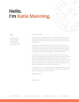 Katie Manning - Cover Letter item