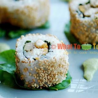 INSIDE-OUT TONKATSU ROLLS (about 6 rolls).