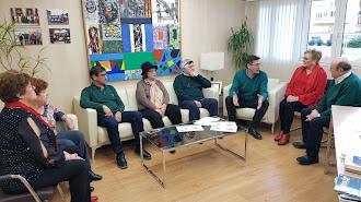 Teruel, durante una reunión con mayores.