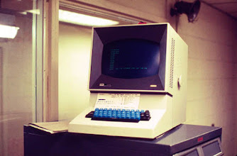Photo: IBM 2260 Display Terminal, North University Building, University of Michigan, c. 1968