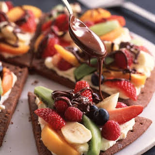 Fresh Fruit and Chocolate Pizza.
