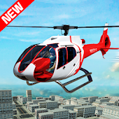 City Helicopter Flying Simulator Public Transport Android APK Download Free By ALP GAMES