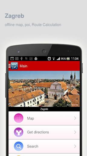 Zagreb Map offline